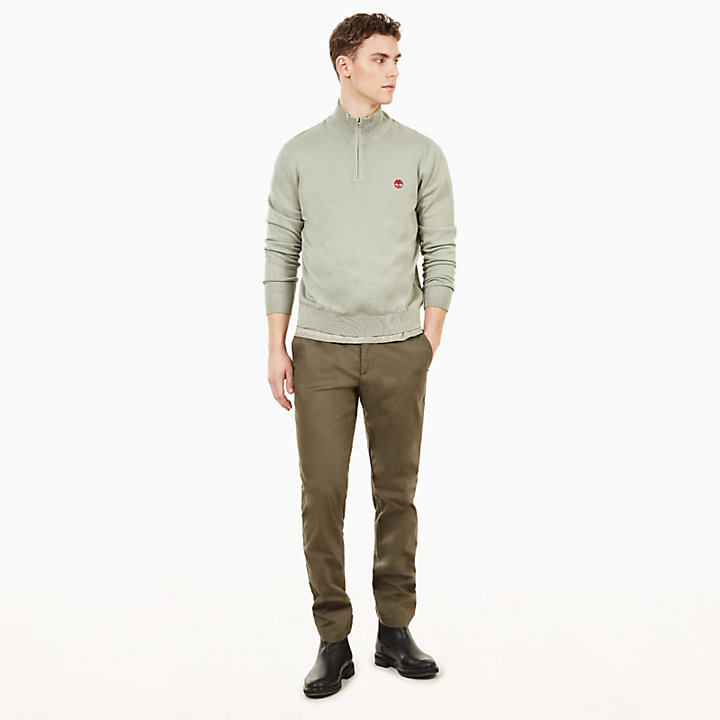 Manhan River V-Neck Sweatshirt voor Heren in Blauw-