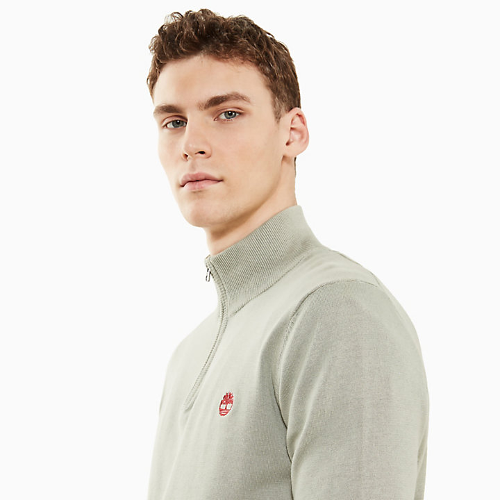 Manhan River V-Neck Sweatshirt for Men in Blue-