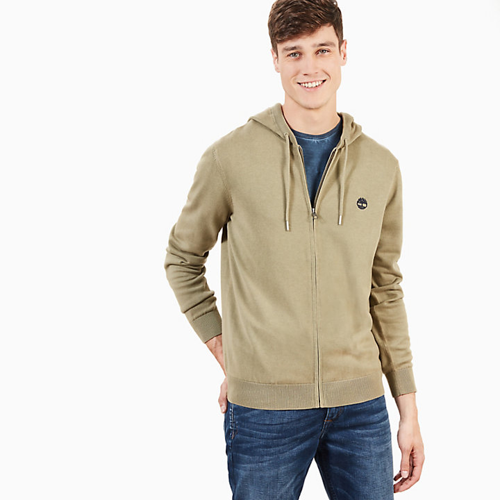 Manhan River Hoodie for Men in Green-
