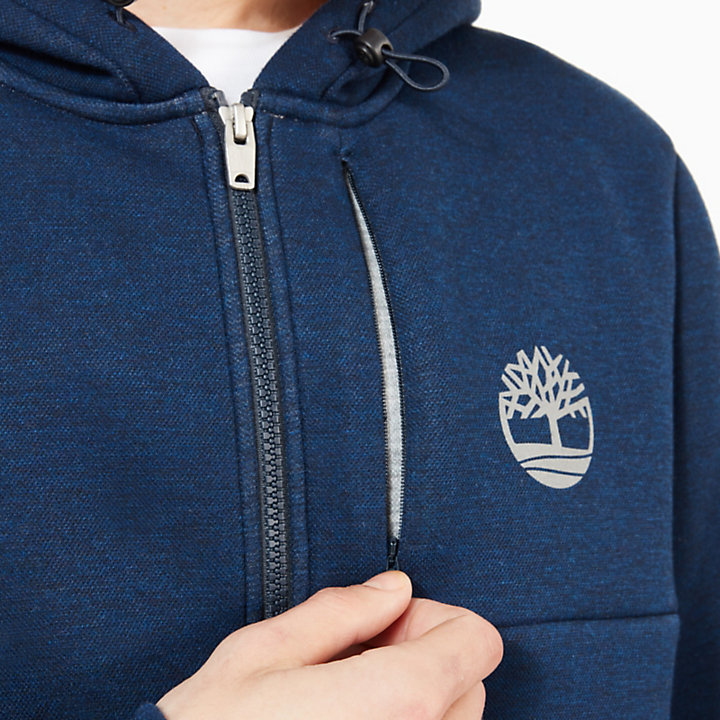 Warner River Zip Up Hoodie for Men in Navy-