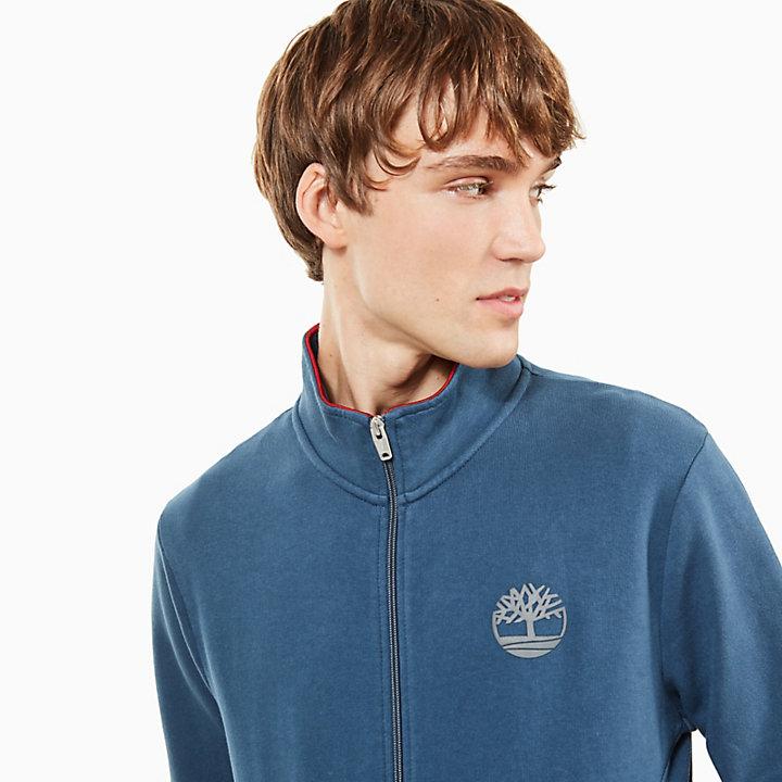 Westfield River Sweatshirt met Rits voor Heren in Indigo-