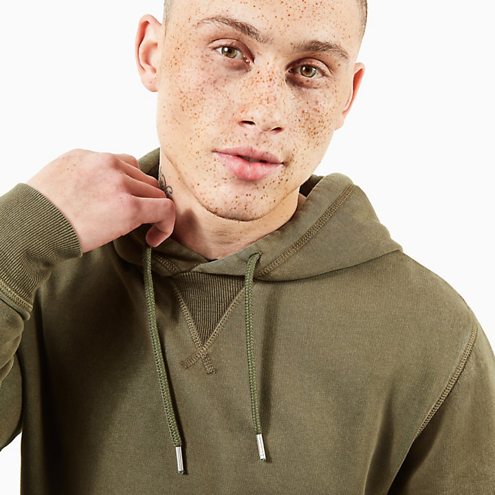 Mad River Vintage Hoodie for Men in Dark Green-