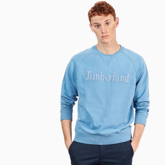 Exeter River Logo Sweatshirt for Men in Blue | Timberland