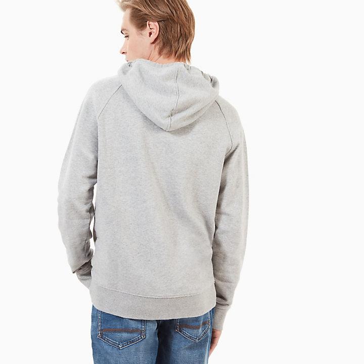 Sweat à capuche Exeter River avec logo pour homme en gris-
