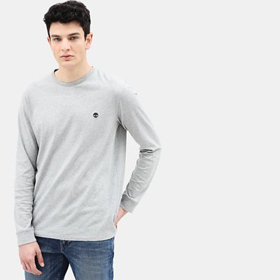 Dunstan+River+Long+Sleeve+T-Shirt+for+Men+in+Grey