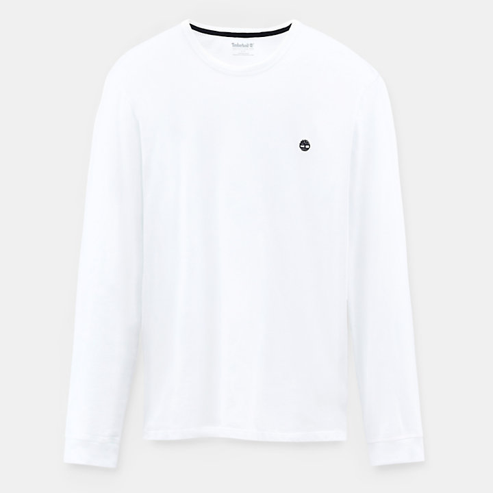 Dunstan River Long Sleeve T-Shirt for Men in White-