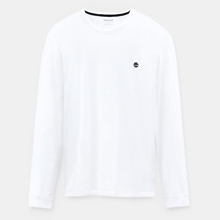 Dunstan River Langarm T-Shirt für Herren in Weiß-