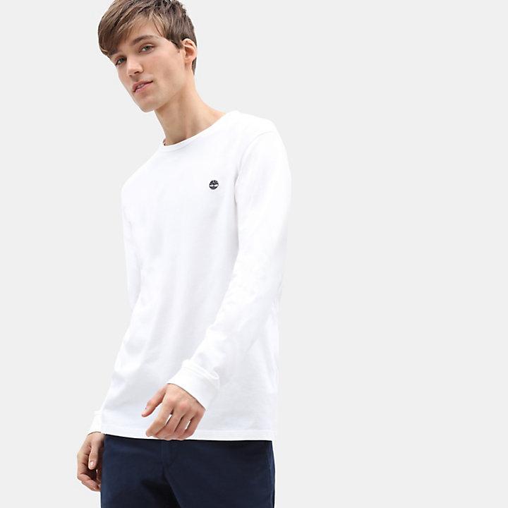 T-shirt de Manga Comprida Dunstan River para Homem em branco-