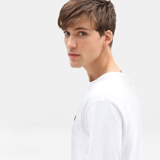 Dunstan River Long Sleeve T-Shirt for Men in White | Timberland