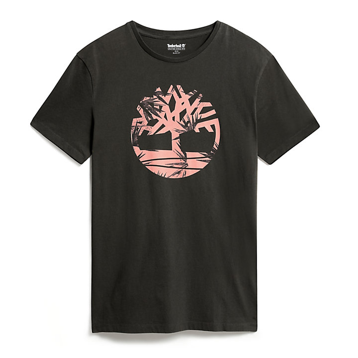 Kennebec River Retro T-Shirt für Herren in Grau-