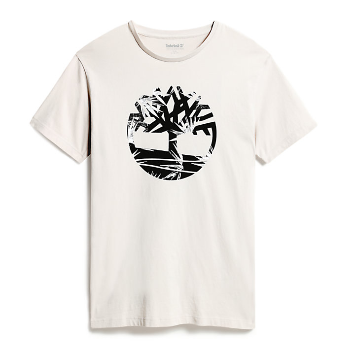 Kennebec River Tree Logo T-Shirt für Herren in Grau-