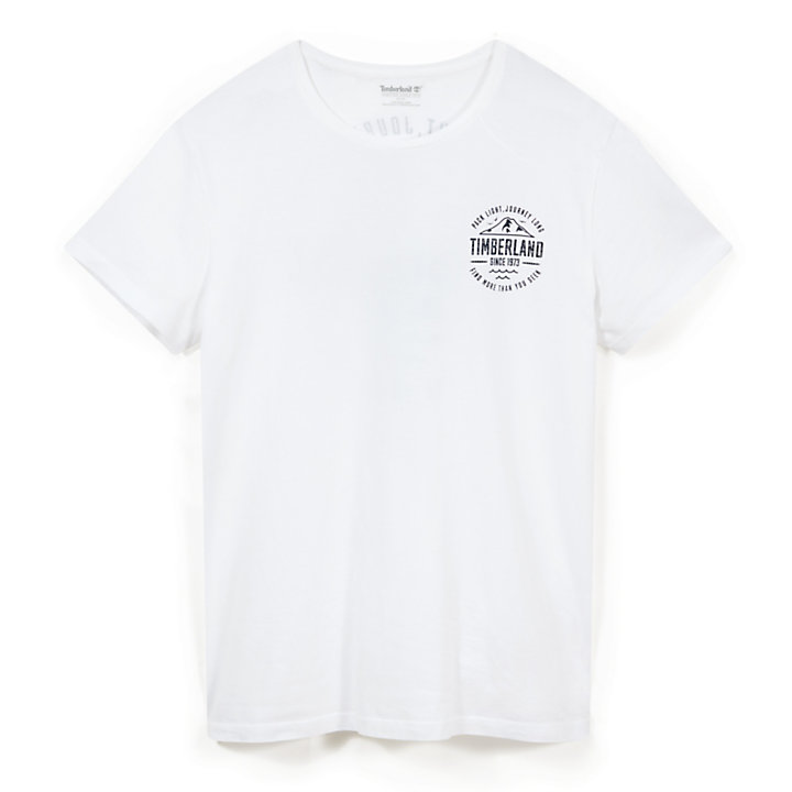 Kennebec River Graphic T-shirt Heren in Wit-
