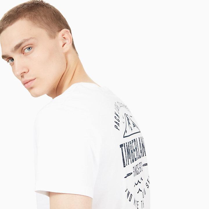 Kennebec River Graphic T-Shirt für Herren in Weiß-