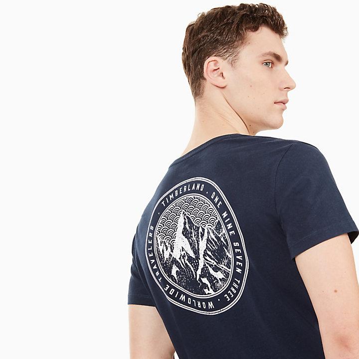 Kennebec River Graphic T-Shirt für Herren in Marineblau-