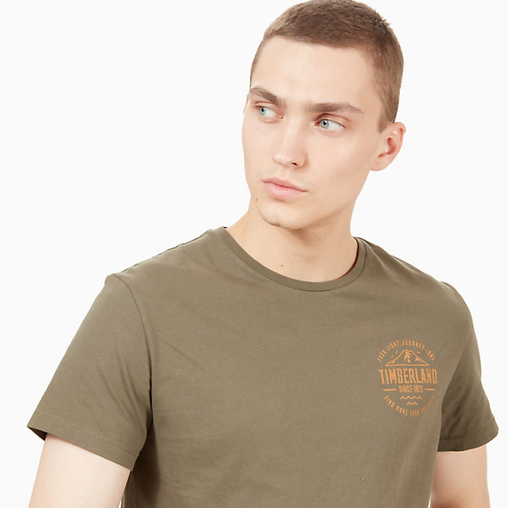 Kennebec River Graphic T-Shirt for Men in Green-