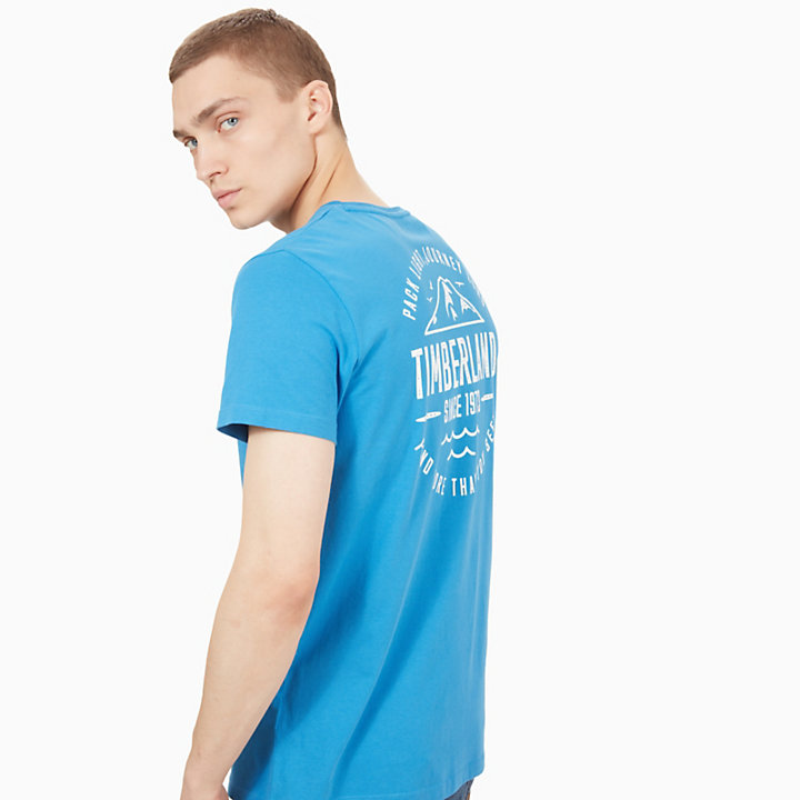 Kennebec River Graphic T-Shirt für Herren in Blau-