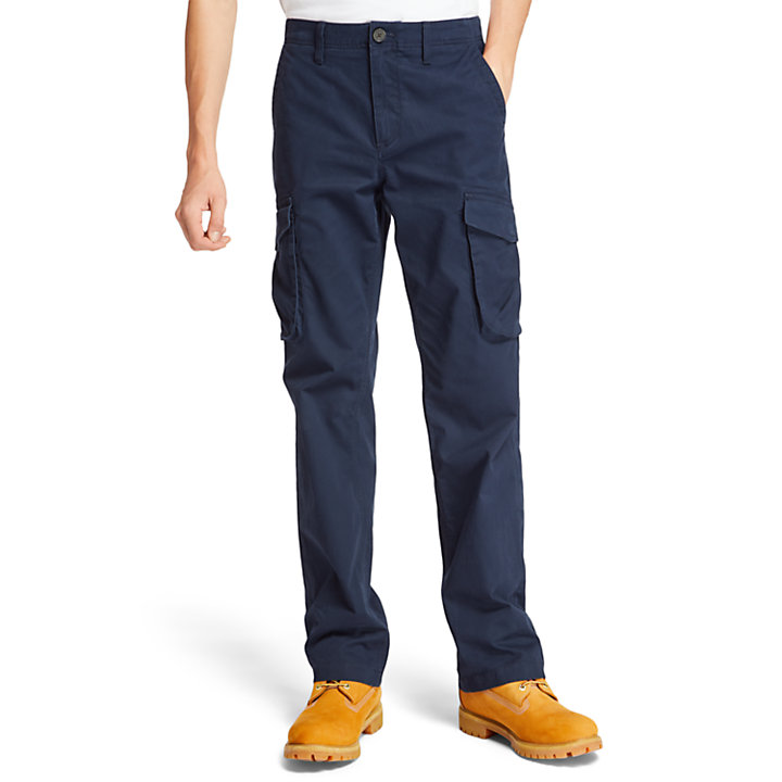 Tarleton Lake Cargo Trousers for Men in Navy-