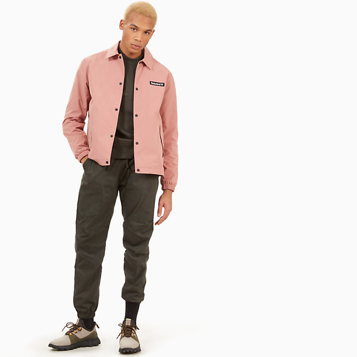 Coach Jacket for Men in Pink-