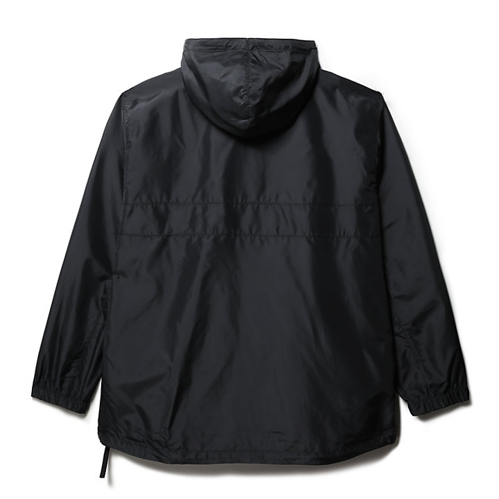 Hooded Outdoor Archive Anorak for Men in Black-