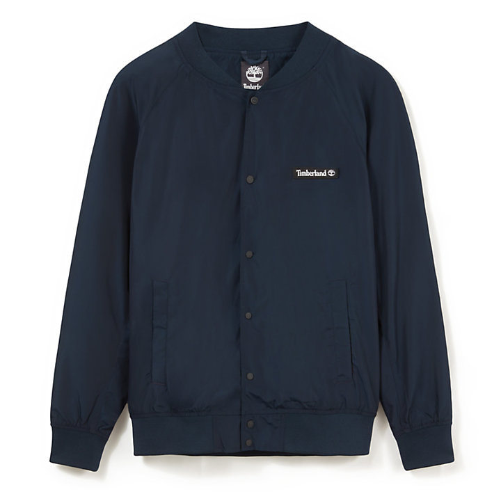 Varsity Bomber for Men in Navy-