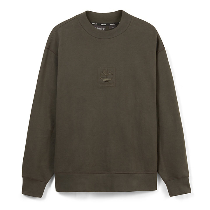 Oversized Crew Neck Sweatshirt for Men in Black-