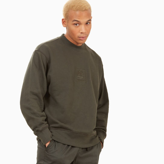 Oversized Crew Neck Sweatshirt for Men in Black | Timberland