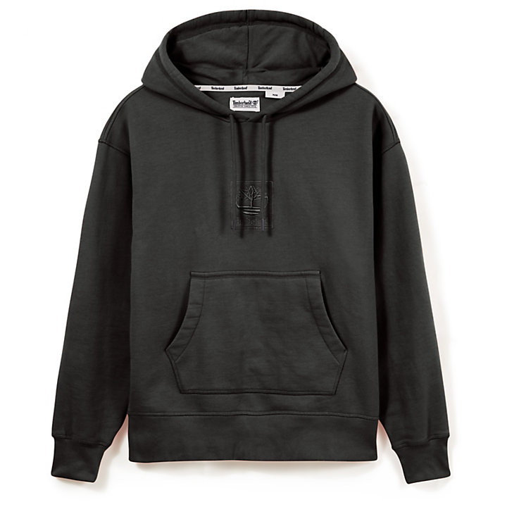 Oversized Hoodie for Men in Black-