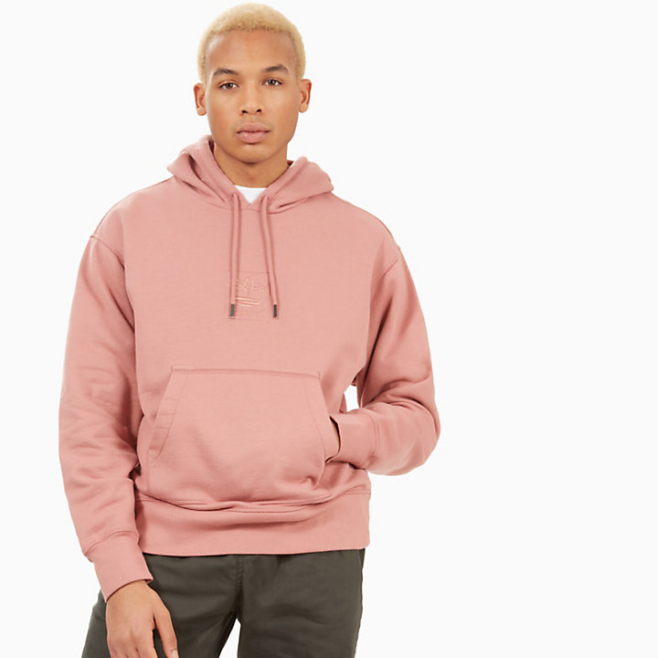 Oversized Hoodie for Men in Pink-