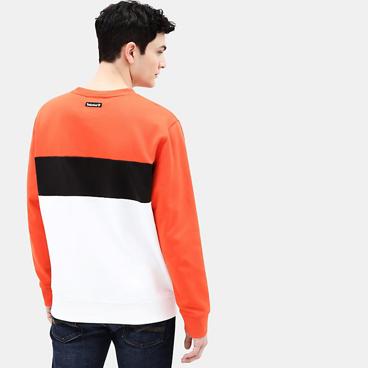 Appliqué Sweatshirt for Men in Orange-