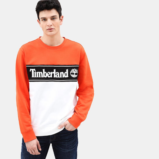 Sweat-shirt à application pour homme en Orange | Timberland