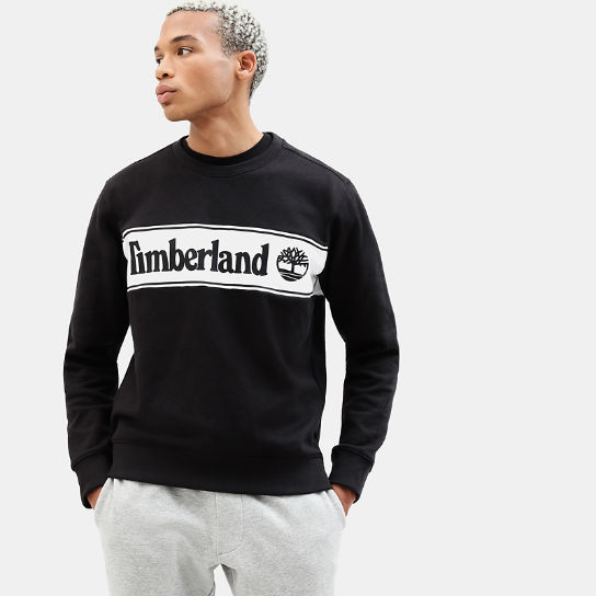 Sweat-shirt à application pour homme en noir | Timberland