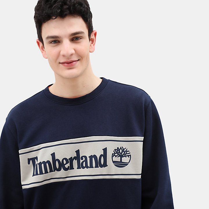 Appliqué Sweatshirt for Men in Navy-