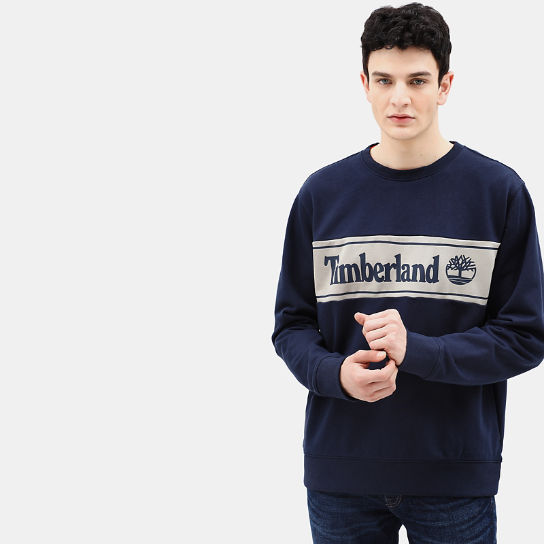 Sweat-shirt à application pour homme en bleu marine | Timberland