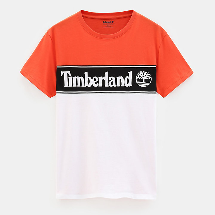 Linear Logo T-shirt for Men in Orange-