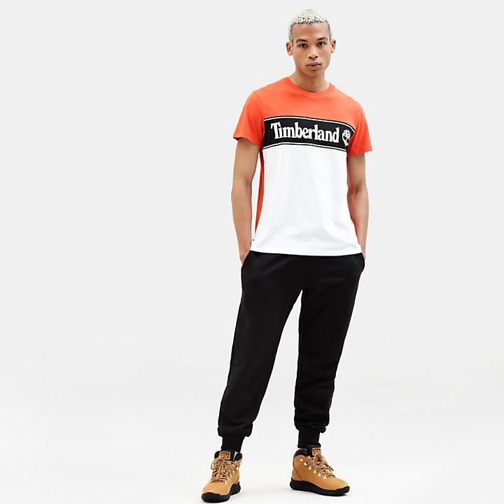 Linear Logo T-shirt for Men in Orange-