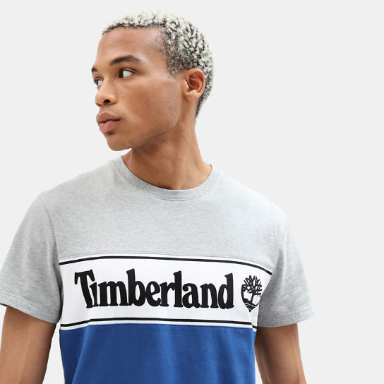 Linear Logo T-shirt for Men in Grey | Timberland