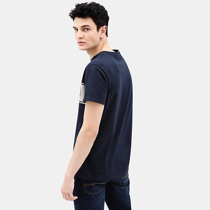 Linear Logo T-shirt for Men in Navy-