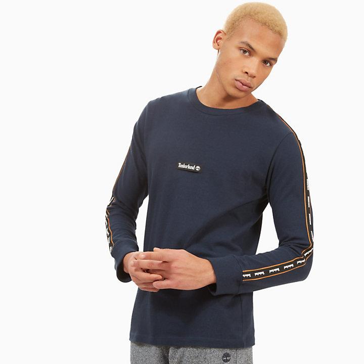 Tape T-Shirt for Men in Navy-