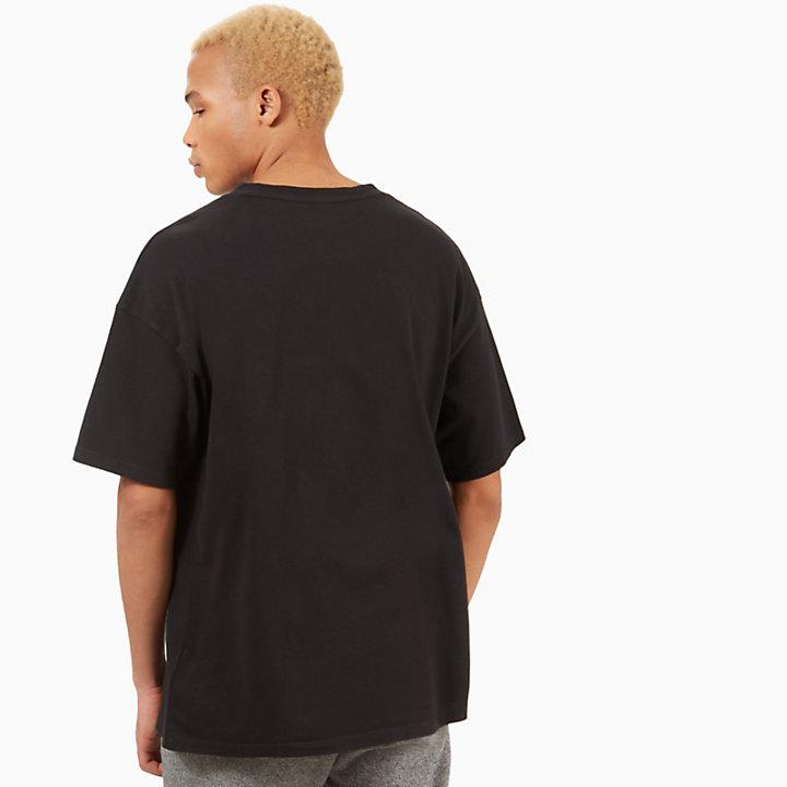 T-shirt à rayures contrastantes pour homme en noir-