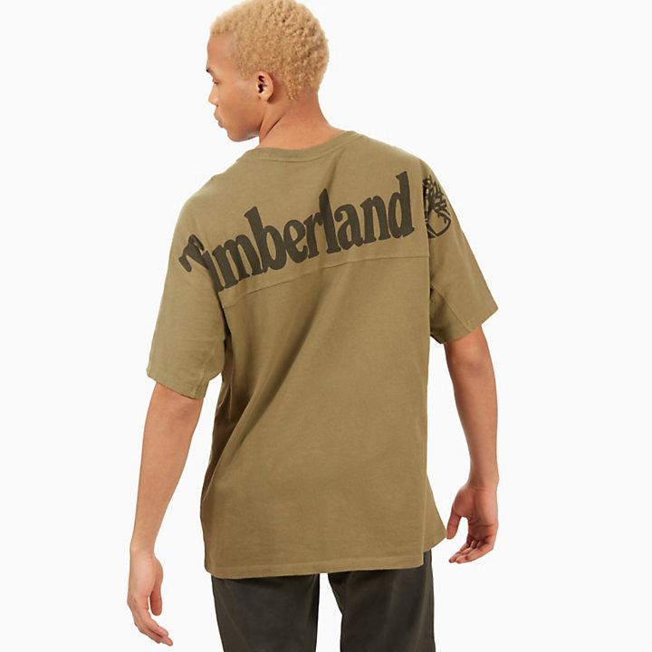 Linear Logo T-Shirt for Men in Green-