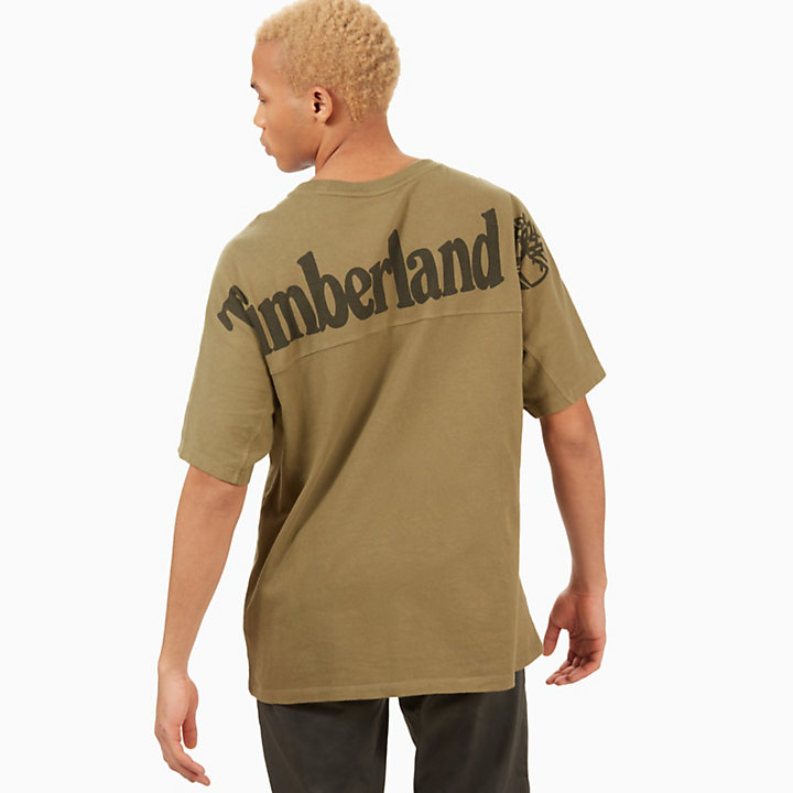 Camiseta con Logotipo Horizontal para Hombre en Verde-