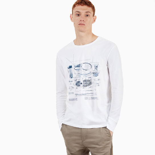 Icon Inspired T-shirt voor Heren in Wit | Timberland