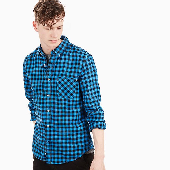 Back River Gingham Shirt for Men in Blue-