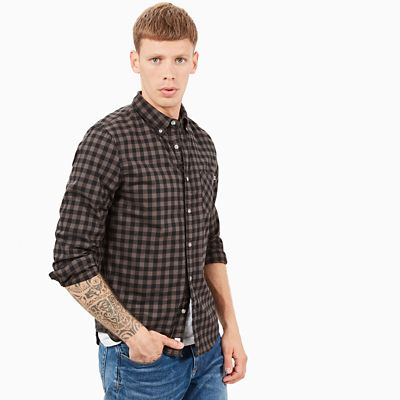Back+River+Gingham+Shirt+for+Men+in+Dark+Grey