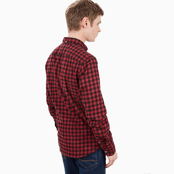 Back River Gingham Shirt for Men in Red-