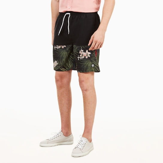 Sunapee Lake Print Leisure Shorts for Men in Black | Timberland