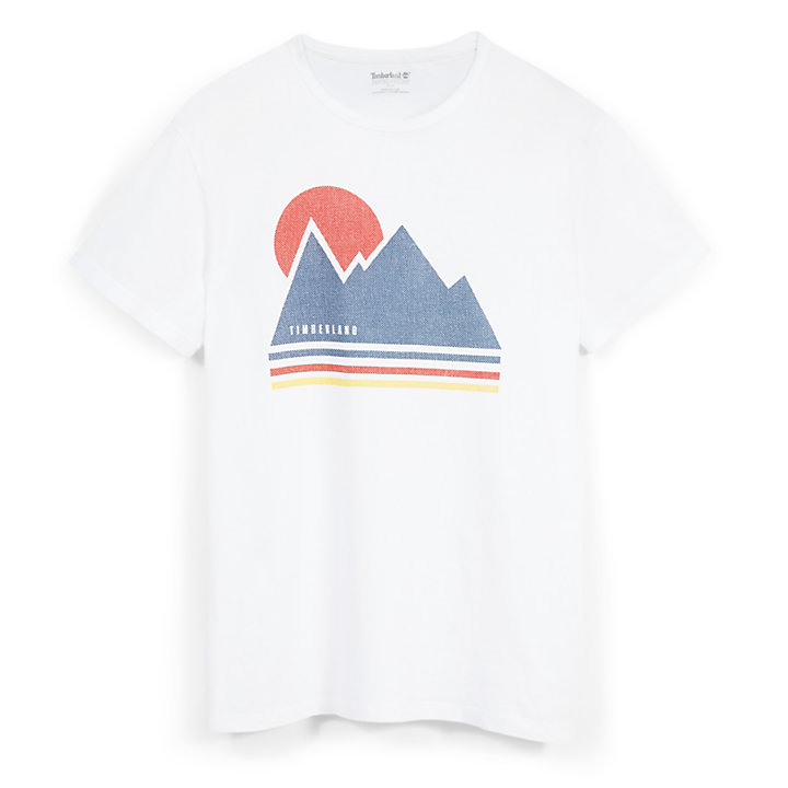 Kennebec River Retro T-shirt voor Heren in Wit-