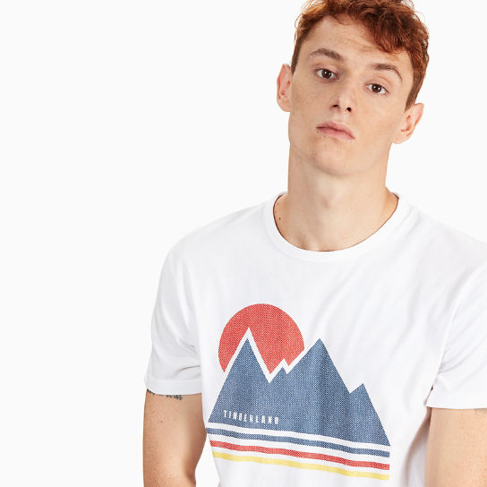 Kennebec River Retro T-shirt voor Heren in Wit | Timberland