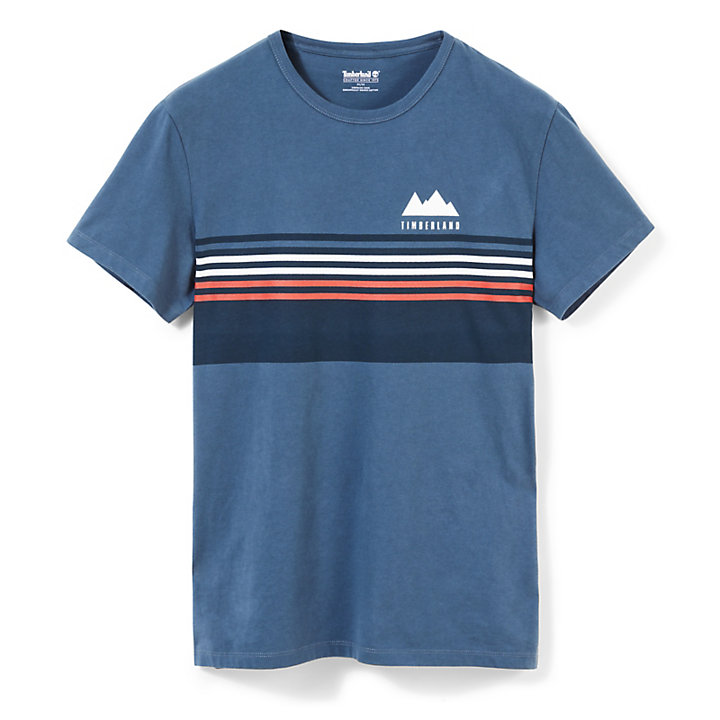 Kennebec River Retro T-Shirt für Herren in Indigo-