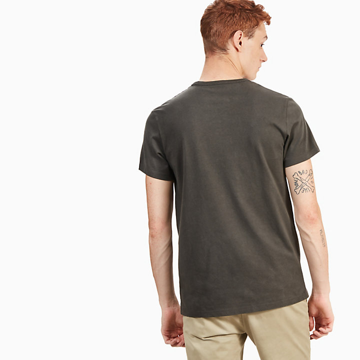 Kennebec River Retro T-Shirt for Men in Grey-